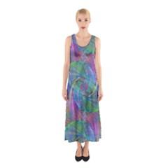 Spiral Pattern Swirl Pattern Sleeveless Maxi Dress