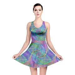 Spiral Pattern Swirl Pattern Reversible Skater Dress