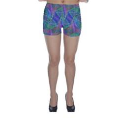 Spiral Pattern Swirl Pattern Skinny Shorts