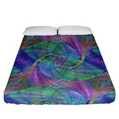Spiral Pattern Swirl Pattern Fitted Sheet (California King Size)