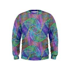 Spiral Pattern Swirl Pattern Kids  Sweatshirt