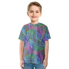 Spiral Pattern Swirl Pattern Kids  Sport Mesh Tee