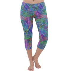 Spiral Pattern Swirl Pattern Capri Yoga Leggings