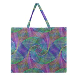 Spiral Pattern Swirl Pattern Zipper Large Tote Bag