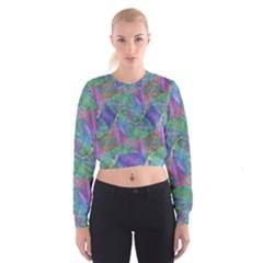 Spiral Pattern Swirl Pattern Cropped Sweatshirt