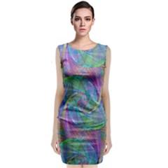 Spiral Pattern Swirl Pattern Classic Sleeveless Midi Dress