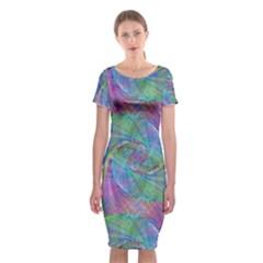 Spiral Pattern Swirl Pattern Classic Short Sleeve Midi Dress