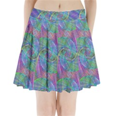 Spiral Pattern Swirl Pattern Pleated Mini Skirt