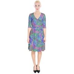 Spiral Pattern Swirl Pattern Wrap Up Cocktail Dress