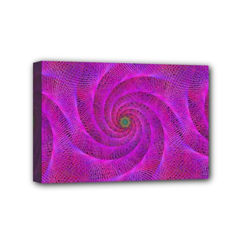 Pink Abstract Background Curl Mini Canvas 6  X 4