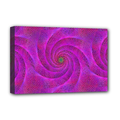 Pink Abstract Background Curl Deluxe Canvas 18  X 12