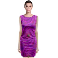 Pink Abstract Background Curl Classic Sleeveless Midi Dress