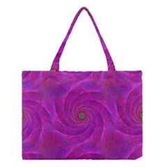 Pink Abstract Background Curl Medium Tote Bag