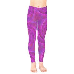 Pink Abstract Background Curl Kids  Legging