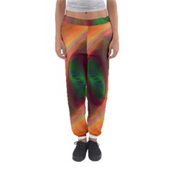 Ellipse Fractal Orange Background Women s Jogger Sweatpants by Nexatart