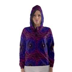 Pattern Seamless Repeat Spiral Hooded Wind Breaker (women)