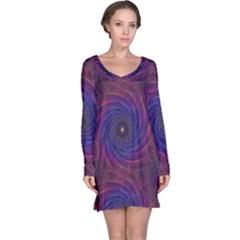 Pattern Seamless Repeat Spiral Long Sleeve Nightdress