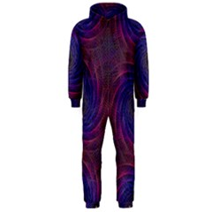 Pattern Seamless Repeat Spiral Hooded Jumpsuit (men)