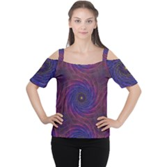 Pattern Seamless Repeat Spiral Cutout Shoulder Tee