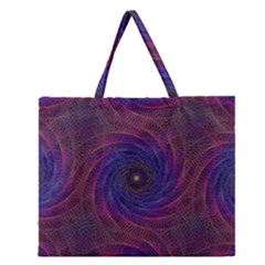 Pattern Seamless Repeat Spiral Zipper Large Tote Bag by Nexatart