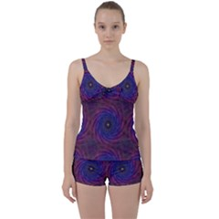 Pattern Seamless Repeat Spiral Tie Front Two Piece Tankini