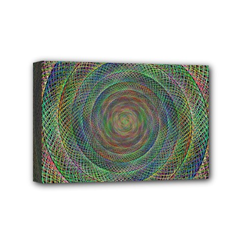Spiral Spin Background Artwork Mini Canvas 6  X 4