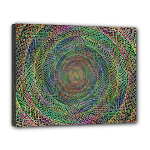 Spiral Spin Background Artwork Canvas 14  X 11