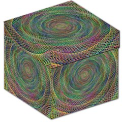 Spiral Spin Background Artwork Storage Stool 12   by Nexatart