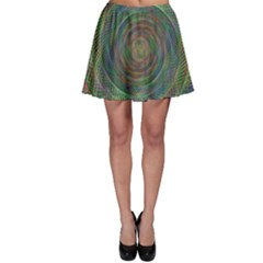 Spiral Spin Background Artwork Skater Skirt