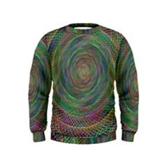 Spiral Spin Background Artwork Kids  Sweatshirt