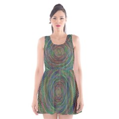Spiral Spin Background Artwork Scoop Neck Skater Dress