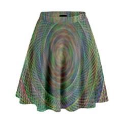 Spiral Spin Background Artwork High Waist Skirt