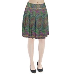 Spiral Spin Background Artwork Pleated Skirt