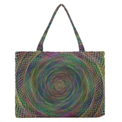 Spiral Spin Background Artwork Zipper Medium Tote Bag