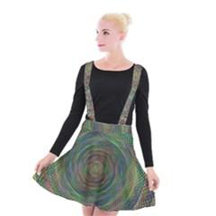 Spiral Spin Background Artwork Suspender Skater Skirt by Nexatart