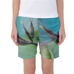 Leaves Grass Plants  Women s Basketball Shorts by amphoto
