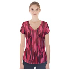Abstract 3 Short Sleeve Front Detail Top