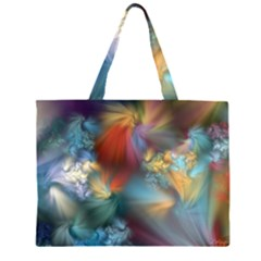 Evidence Of Angels Zipper Large Tote Bag by WolfepawFractals