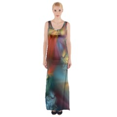 Evidence Of Angels Maxi Thigh Split Dress by WolfepawFractals