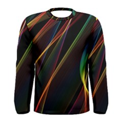 Rainbow Ribbons Men s Long Sleeve Tee