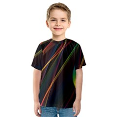 Rainbow Ribbons Kids  Sport Mesh Tee