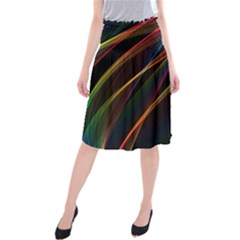 Rainbow Ribbons Midi Beach Skirt