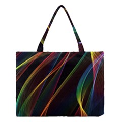 Rainbow Ribbons Medium Tote Bag