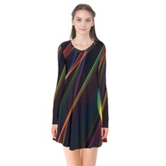 Rainbow Ribbons Flare Dress