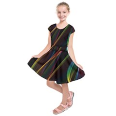 Rainbow Ribbons Kids  Short Sleeve Dress