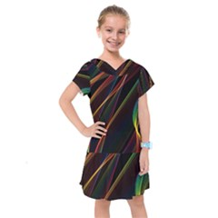Rainbow Ribbons Kids  Drop Waist Dress