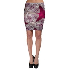 Morocco Motif Pattern Travel Bodycon Skirt