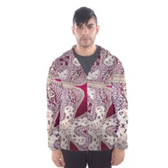 Morocco Motif Pattern Travel Hooded Wind Breaker (men)