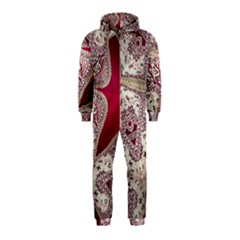 Morocco Motif Pattern Travel Hooded Jumpsuit (kids)