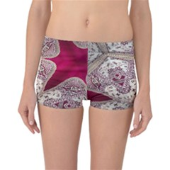 Morocco Motif Pattern Travel Reversible Boyleg Bikini Bottoms